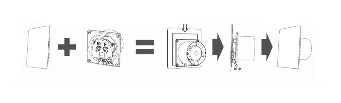 Wentylator AirRoxy łazienkowy ozdobny